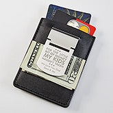 Personalized Dad Zippo Money Clip & Credit Card Case - 17243