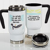 Personalized Retirement Commuter Travel Mug - I'm Retired - 17256