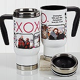 Personalized Romantic Photo Commuter Travel Mug - XOXO - 17258