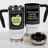 Personalized Teacher Commuter Travel Mug - Teachers Green Apple - 17278