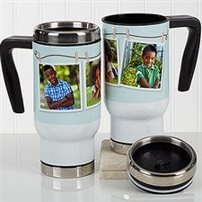 Personalized Photo Commuter Travel Mug - 3 Photo Collage - 17283