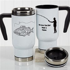 Personalized Fishing Commuter Travel Mug - What A Catch! - 17286