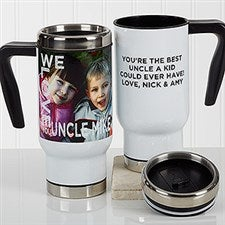 Personalized Photo Commuter Travel Mug - Loving Them - 17292