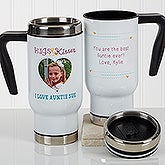 Personalized Photo Commuter Travel Mug - Hugs & Kisses - 17294