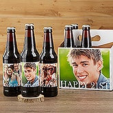 Personalized Photo Beer Bottle Labels & Beer Carrier - Happy Birthday - 17298