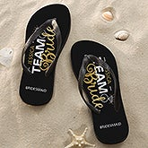 Personalized Wedding Party Adult Flip Flops - Team Bride - 17308