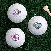Personalized Women's Golf Ball Sets - Sassy Lady - 17322
