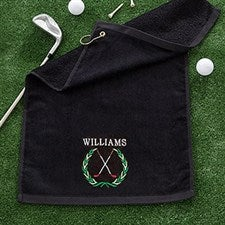 Personalized Golf Towel - Performance Golf Crest - 17326