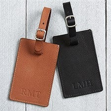 Personalized Debossed Luggage Tag - First Class  - 17329
