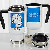 Personalized Pet Commuter Travel Mug - Top Dog - 17342