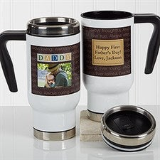 Personalized Commuter Travel Mug - Just For Him - 17343
