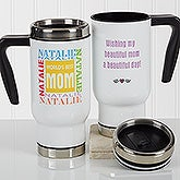 World's Best Mom Personalized Travel Mugs - 17344