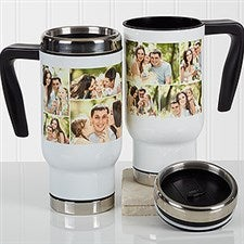 Personalized Photo Commuter Travel Mug - Create A Photo Collage - 17350