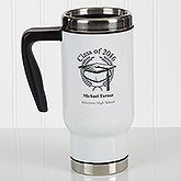 Personalized Commuter Travel Mug - Graduation Cap - 17352