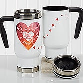 Personalized Commuter Travel Mug - We Love You To Pieces - 17353