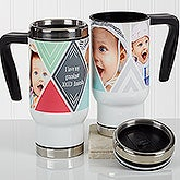 Personalized Photo Commuter Travel Mug - Photo Diamond - 17360