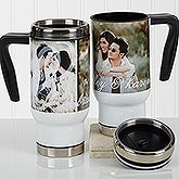 Personalized Romantic Photo Commuter Travel Mug - You & I - 17362