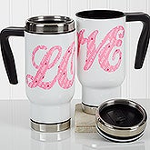 Personalized Romantic Commuter Travel Mug - L-O-V-E Sweethearts - 17364