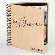 Personalized Wood Photo Album - Family Established - 17367