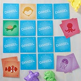Personalized Memory Game - Sea Creatures - 17375