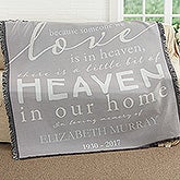Personalized Memorial Woven Throw Blanket - Heaven In Our Home - 17382
