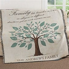 Family Tree Personalized Blankets - 17388