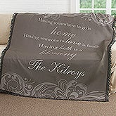 Personalized Woven Throw Blanket - Family Blessings - 17389