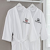 Embroidered Couple Robe - Better Together - 17392