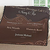 Personalized Grandparent Woven Throw Blanket - My Grandkids - 17400