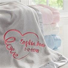 8f6370744b Embroidered Baby Blankets - Baby Love Keepsake - 17401