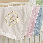 Embroidered Religious Keepsake Baby Blankets - Joyful Blessing - 17402