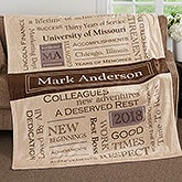 Personalized Fleece Blankets - Retirement Gifts - 17405