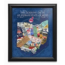 Personalized MLB Framed Sports Print - Baseball State Of Mind - 17409D
