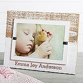 Personalized Baby White Washed Genuine Beachwood Frame - Bundle Of Joy - 17411