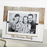Precious Family Personalized White Washed Genuine Beachwood Frame - 17412