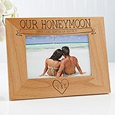 Personalized Honeymoon Picture Frames - Honeymoon Memories - 17414