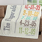 Milestone Dates Personalized Fleece Blanket - 17416