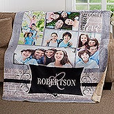 Personalized Family Photo Collage Premium Blanket - 17418