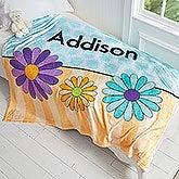 Personalized Fleece Blanket For Girls - 4 Designs - 17431