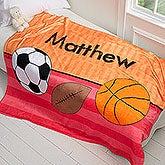 Personalized Kids Blanket for Boys - 50x60 Fleece Blanket - 17432