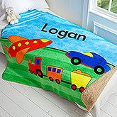 Personalized Kids Blanket for Boys - 50x60 Sherpa Blanket - 17433