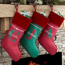 Personalized Christmas Stockings With Name & Monogram - 17440