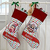 Photo Christmas Stockings - Polka Dot Christmas - 17441