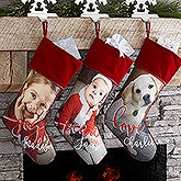 Personalized Photo Christmas Stocking - Holiday Photo Memories - 17451