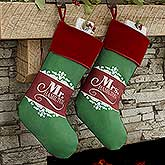 Personalized Mr. And Mrs. Christmas Stockings - 17454