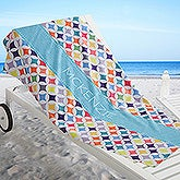 Personalized Beach Towel - Geometric - 17455