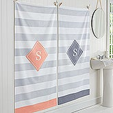 Classic Initial Personalized Bath Towel - 17457