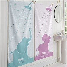 Personalized Animals Baby Bath Towel - Baby Zoo Animals - 17469