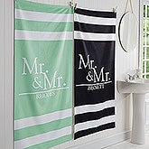 Wedded Pair Personalized Bath Towel - 17475