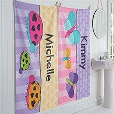 Personalized Bath Towels For Girls - Just For Her - 17477